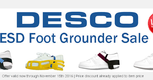 Desco ESD Foot Grounder Sale - (Now until November 15th 2016)