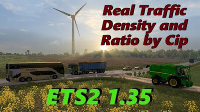 Real Traffic Density and Ratio ETS2 1.35.f