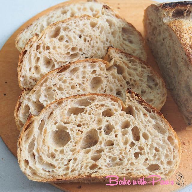 Toasted Oat Porridge Sourdough Bread