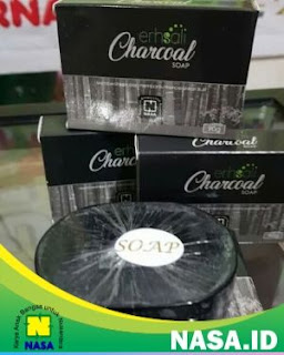 ERHSALI Charcoal Soap Pemutih Wajah Herbal Alami