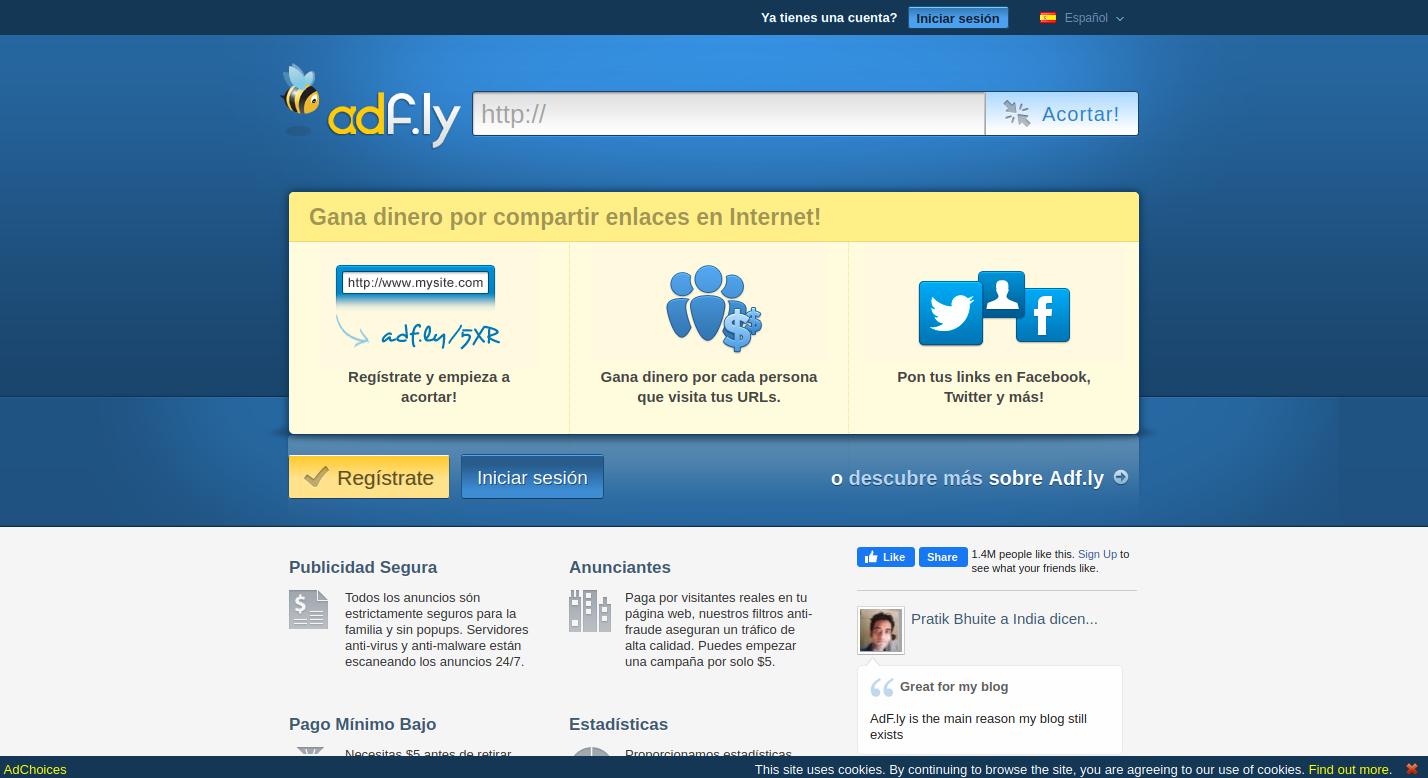 adf.ly, acortador, monetizado, monetización, link, links, enlaces