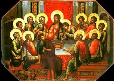 Pintura de la Última Cena de Jesús por Simón Ushakov