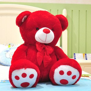 Sweet Red Teddy Bear Picture
