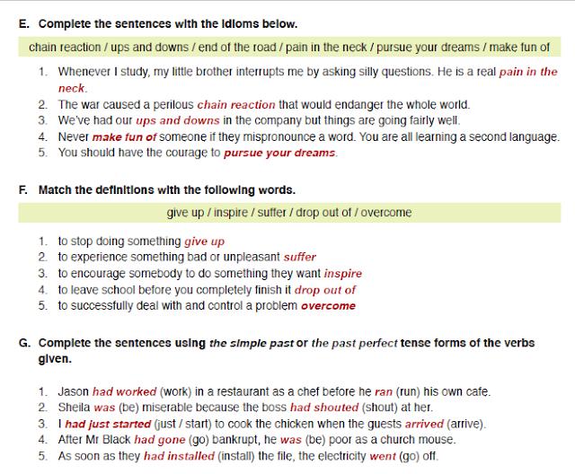 11. Sınıf MEB Yayınları İngilizce Çalışma Kitabı Silver Lining 36. Sayfa Cevapları Review 3-4