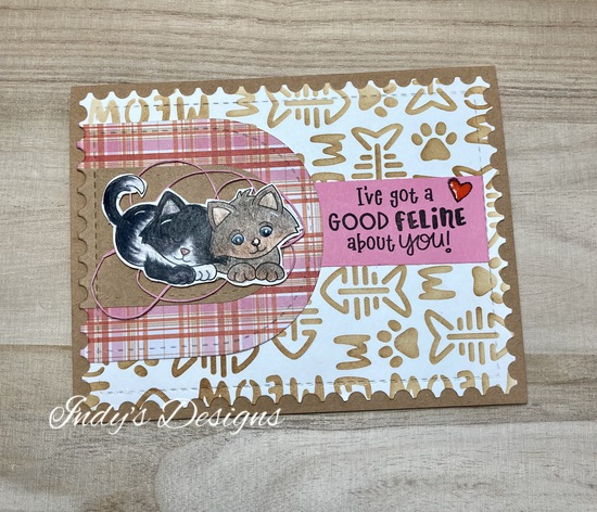 I've got a good feline about you features Newton's Nook Designs, #indys_designs, #cardmaking, #catcards