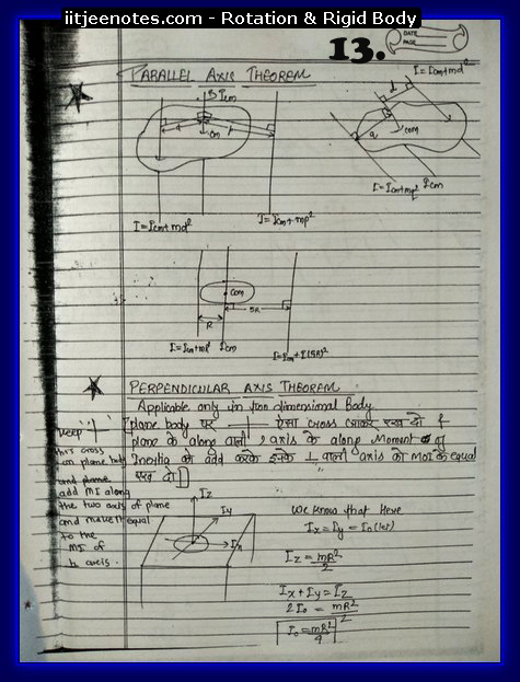 Rotation and Rigid body Notes 3