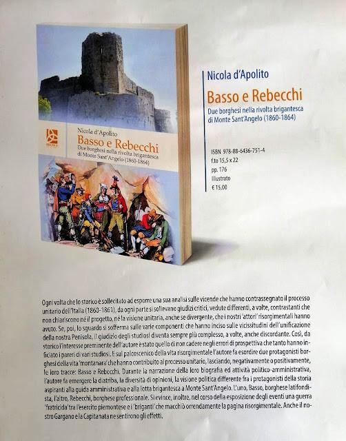 """""""Basso e Rebecchi"""", un'interessante ricerca storica sul Risorgimento garganico e dauno"""