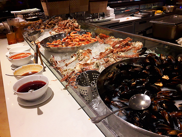 seafood selection at The Cafe