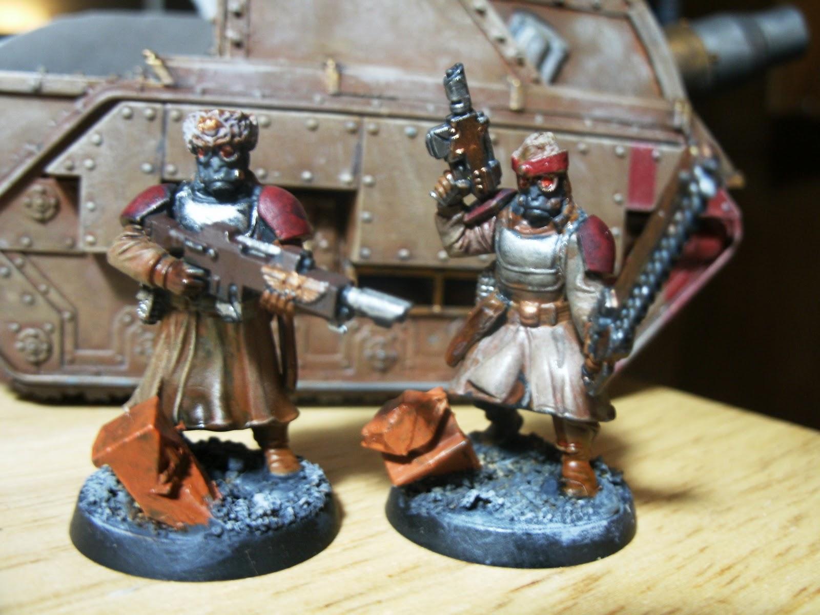 Vostroyan Scions: Hudson: Great Coat Guard/Hot-Shot Lasguns