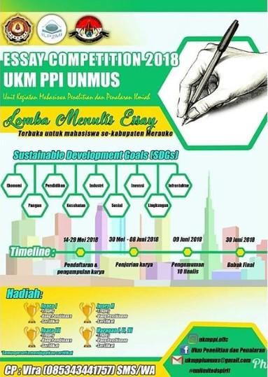 Essay Competition 2018 Mahasiswa Se-Kab Merauke di UNMUS