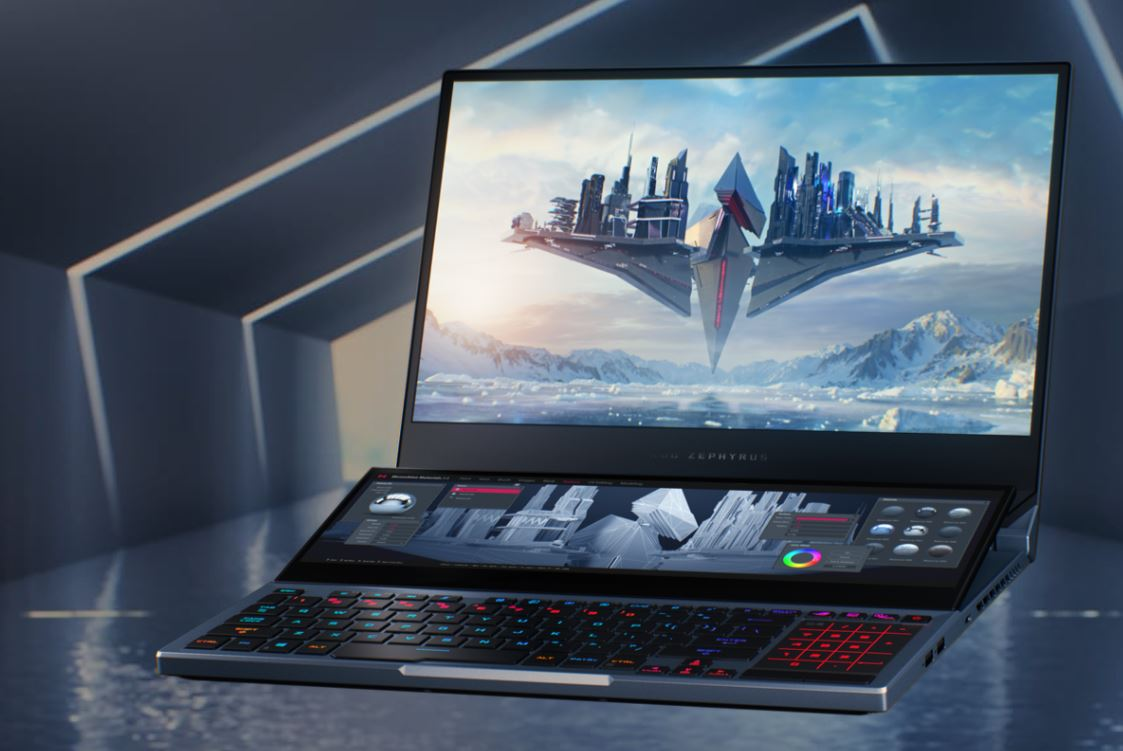 Asus ROG Zephyrus Duo 15 GX550LXS I98SE8T, Laptop Gaming Profesional Bertenaga Intel Core i9
