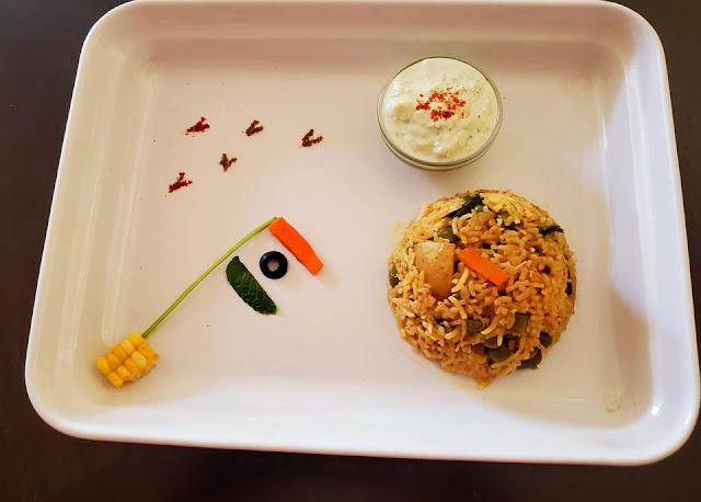 images of India flag in food art