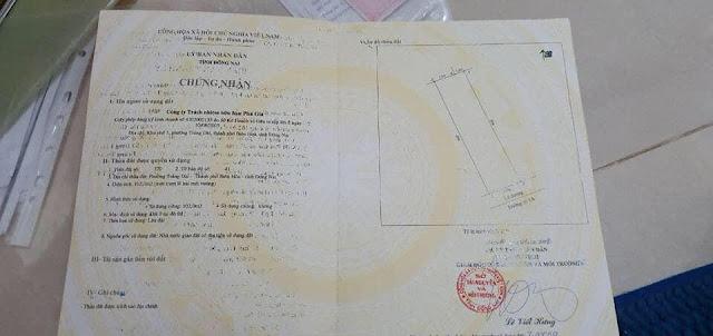 Bán lô đất mặt tiền Phú Gia 1 Trảng Dài 102mv (CYAH)