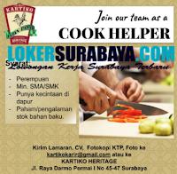 Info Lowongan Kerja Surabaya di Kartiko Heritage September 2020