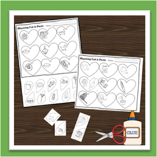 valentines day rhyming worksheets