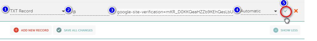 إثبات ملكية النطاق في Namecheap