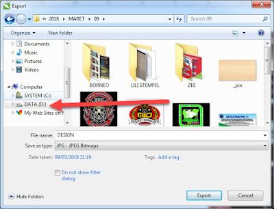 Cara Export Corel Draw Ke JPG PNG TIFF PDF EPS Dan Semuanya Format Gambar