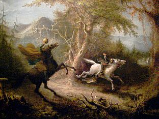 a comparison between two short stories by washington irving the legend of sleepy hollow and the devi Time hasn't dulled the suspense and humor of irving's chilling tale  told true to  the original, the tale of the headless horseman and his effect.