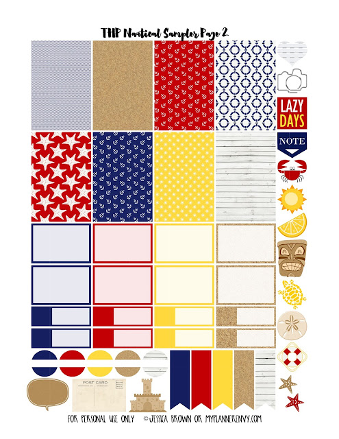 Page 2 of the THP Nautical Sampler on myplannerenvy.com