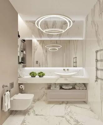 احدث صور ديكورات حمامات منزلية حديثة 2021