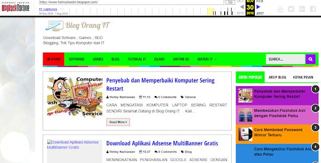 cek riwayat website