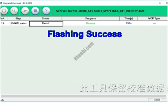 Flash Evercoss M40 Finish