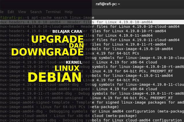 cara upgrade dan downgrade kernel linux debian