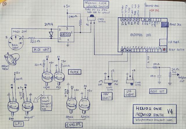 DIY synth schematic