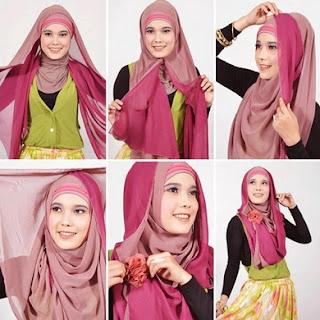 Model hijab fashion segi empat modern terbaru