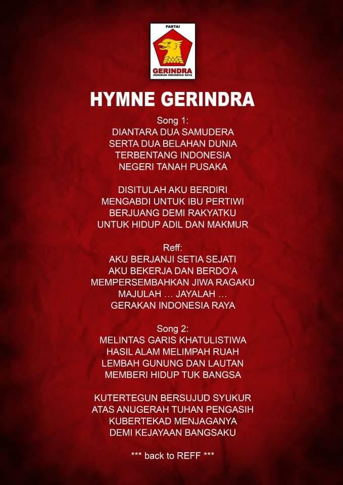 Hymne Partai Gerindra