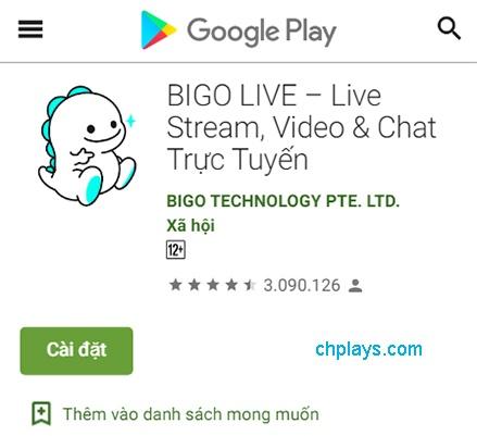 Tải BIGO LIVE, Phát video trực tiếp cho máy Android trên Web, APP a