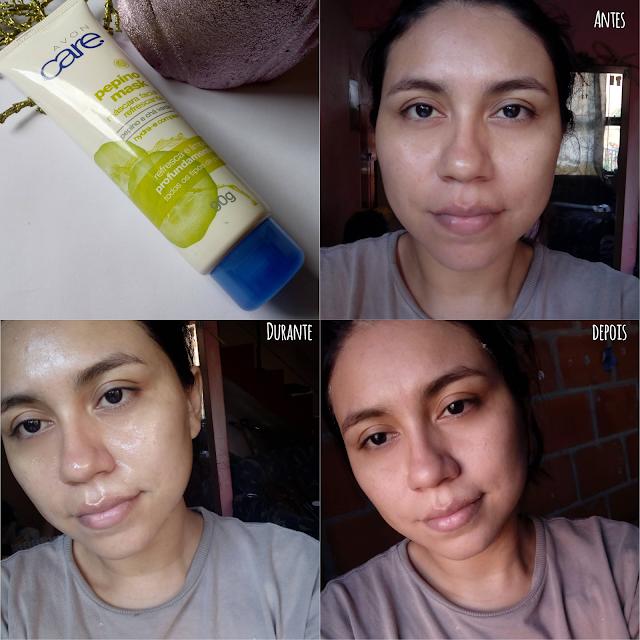 Máscara Facial de Pepino e Chá Verde Avon Care