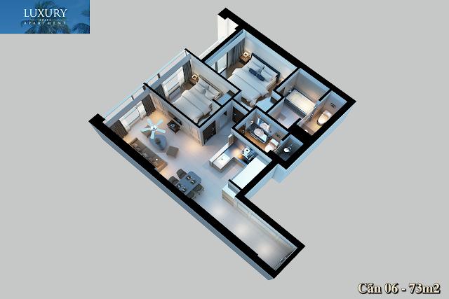 Hình ảnh 3D dự án Luxury Apartment
