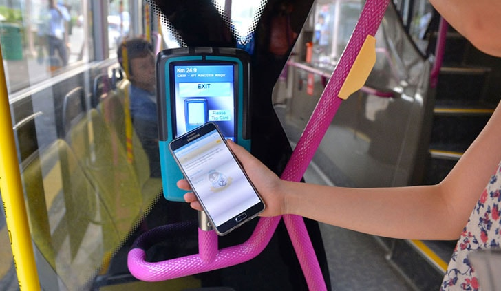 Bus and train pay with NFC
