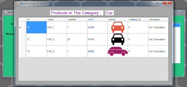 vb.net inventory system - show products in a category
