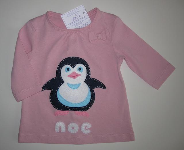 camiseta bebe pinguino