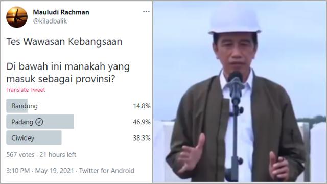 Gegara Provinsi Padang, Jokowi Dicap tak Lulus Wawasan Kebangsaan