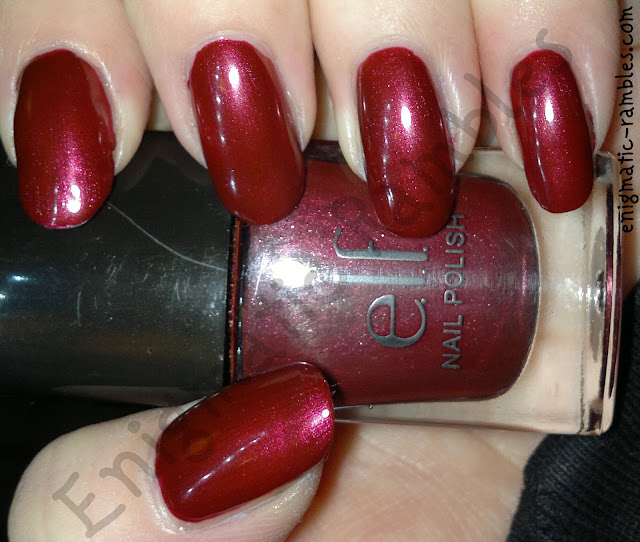 ELF_eyes_lips_face_cranberry_nail_polish_swatch