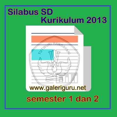 Silabus sd kurikulum 2013 semester 1 dan 2 Format Word