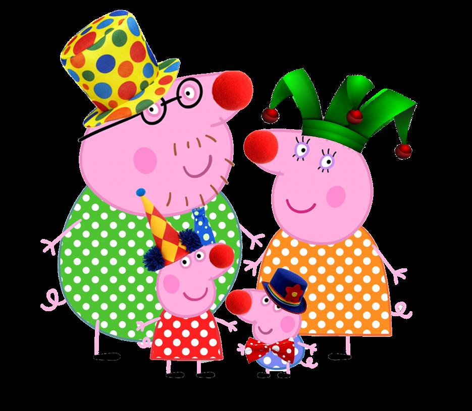 Imágenes para imprimir gratis de Peppa Pig en el Circo.