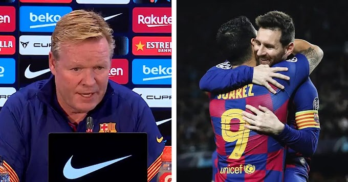 it's normal that a player is a little sad when a friend of his leaves the club: Barca boss reacts to Messi-Suarez post