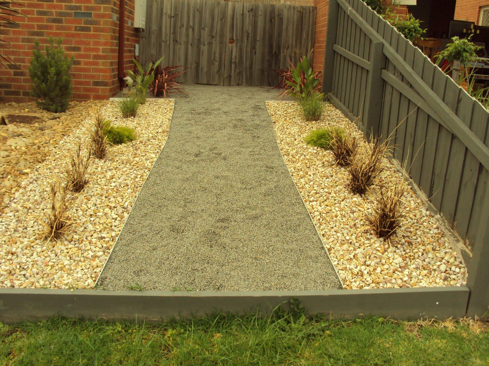 Scorpio Landscaping Geelong: Simple rock garden and path on Rock Backyard  id=75608
