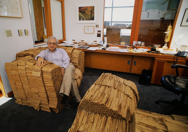 frank gehry cardboard chairs swivel chair explode ghery wiggle side is a designer from price silverweb little miss architect interior design and architecture blog