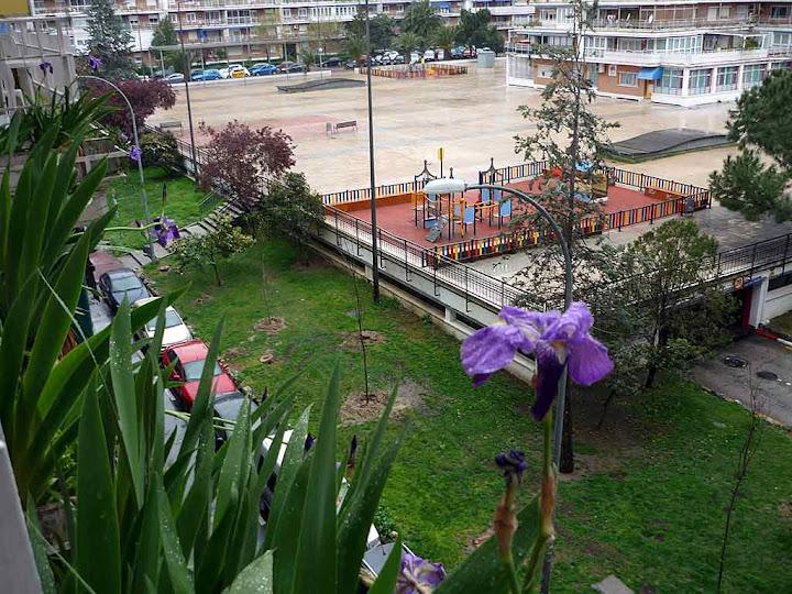 Vistas desde la habitación en alquiler en Parque de Lisboa (Alcorcón)   Madrid. Casa totalmente equipada