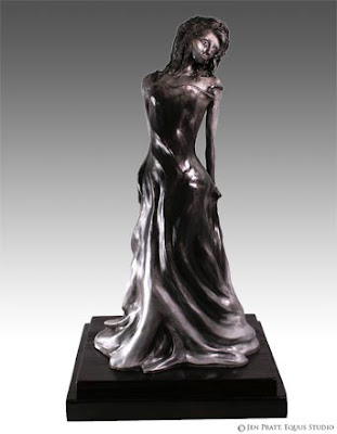 figurative sculptures, realistic woman statue, figurative art