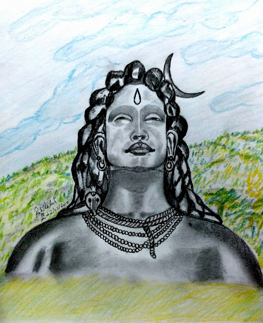 PENCIL DRAWING - ADIYOGI