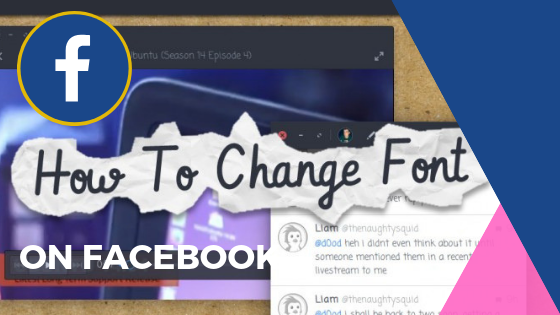 Change Font In Facebook<br/>
