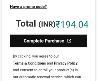 domain complete purchase process