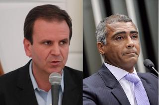 Romário continua à frente na corrida para o governo do Rio