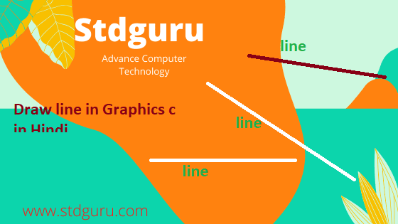 Graphics program to draw line,Draw line in c graphics,How to draw a line in graphics c in Hindi: